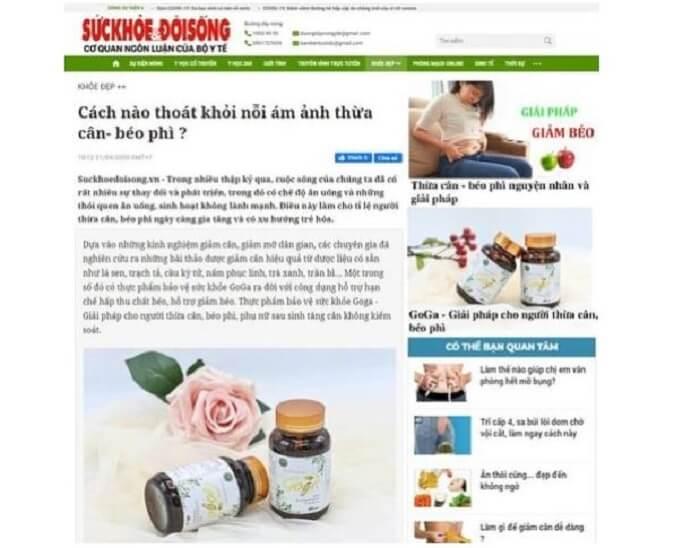 Đánh giá giảm cân goga từ báo sức khỏe